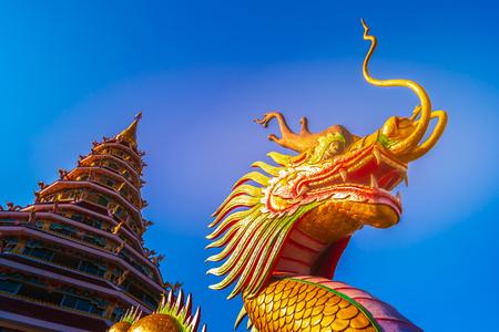 Chinese temple - wat hyua pla kang , Chiang Rai, Thailand Reklamní fotografie
