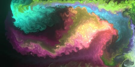 Abstract background, various pigments and dyes create a rich texture. Rendered pattern with colors that create interesting organic shapes and structures. Computer generated illustration.