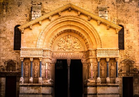 West portal of Cathedral of Saint Trophime in Arles.