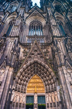 Cologne Cathedral.Roman Catholic Gothic cathedral in Cologne. Gorgeous medieval architecture of Germany.