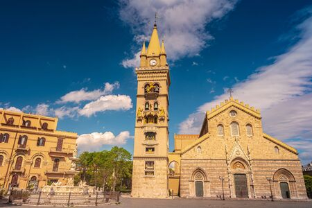 Cathedral of Messina built by the norman king Ruggero II, dates back to 1120, Messina, Sicily, Italy.