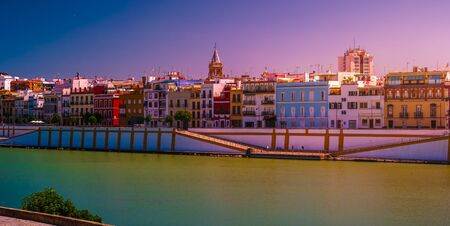 The Triana district in Seville, on the banks of the Guadalquivir river, Seville, Spain