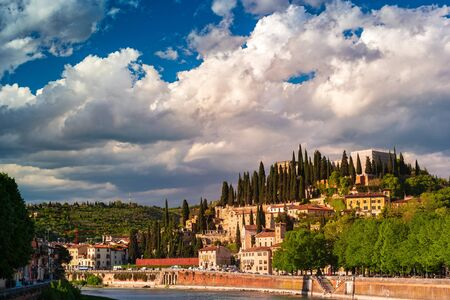 View of the city of Verona, Italy.