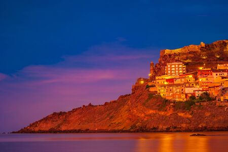 Beautiful photo of Castelsardo old cit, Sardinia, italy.