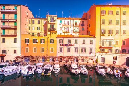 Picturesque district Venezia Nuova in Livorno. Livorno is a port city on the Ligurian Sea with one of the largest seaports in the Mediterranean Sea.