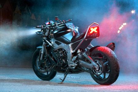 custom bike   studio photography of custom bike Editorial