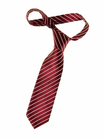 Dark red tie - studio photo of men s business tie - isolated on white background photo