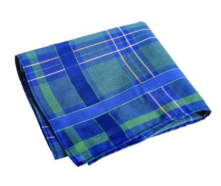 Blue-green handkerchief - studio photography of nose rag Stock Photo - 22417650