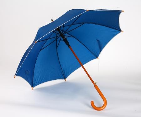 gentleman's: Dark blue umbrella - studio photo of opened umbrella