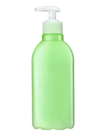 Shampoo bottle with pump  photo