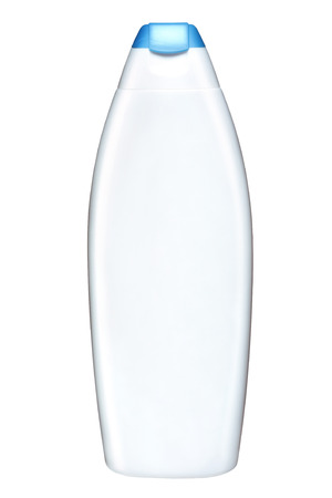 Plastic lotion bottle  photo