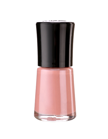 Nail polish - product photography of glass vial with black lacquer cap photo