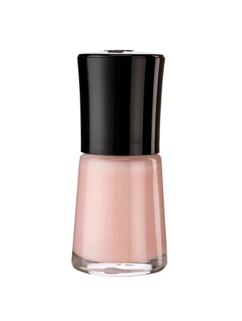 Nail polish lacquer - product photography of glass vial with black lacquer cap photo