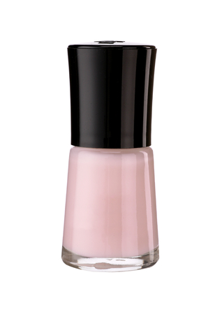 The nail varnish - product photography of glass vial with black lacquer cap photo