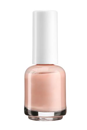 Nagellak - productfotografie van glazen flesje met witte lak dop