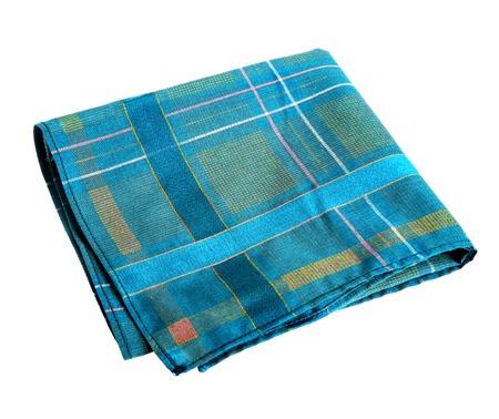 Blau, grün, Taschentuch - Studiofotografie von Nase Lappen - isoliert auf weißem Hintergrund Standard-Bild - 27512965