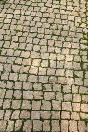 sideway: Stone blocks - outdoors photography of cobblestone sidewalk made of cubic stones
