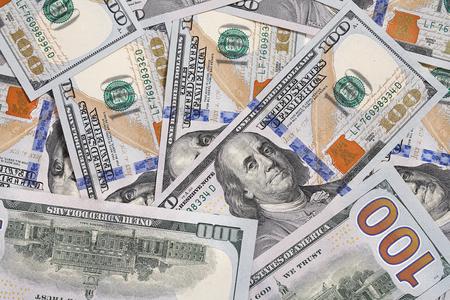 お金アメリカの 100 ドル札 - USD のスタジオ撮影の背景