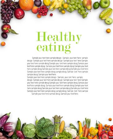 Gezond eten achtergrond Stockfoto