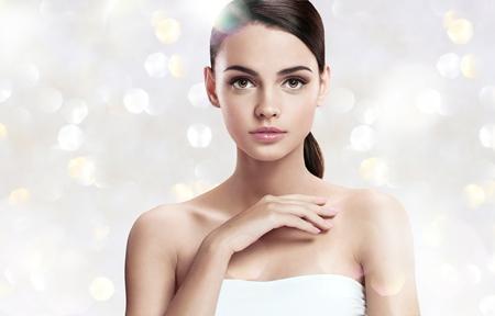 ravishing: Gorgeous girl with makeup  Stock Photo