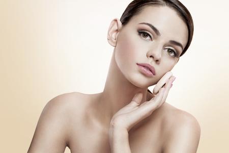 flawless: Pretty female enjoy a flawless skin, skin care concept