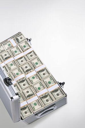Dollar briefcase photo