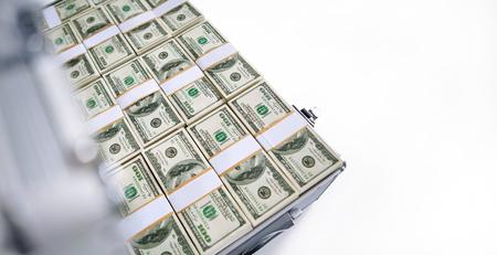 Case with dollars money photo
