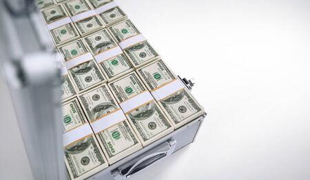 Open case full of money photo