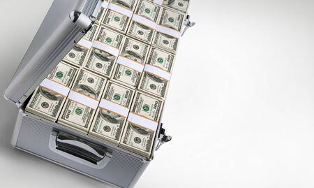 Case full of dollar photo