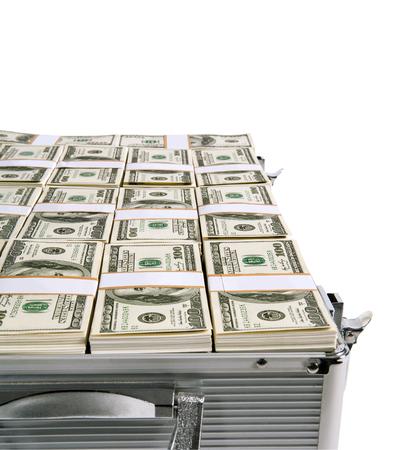 Money in suitcase photo