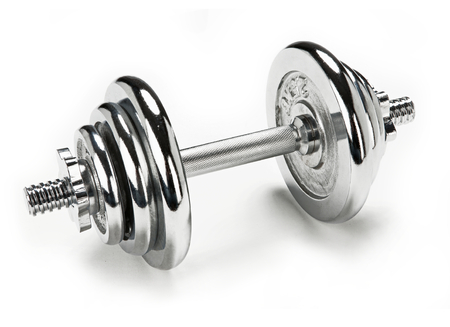 chromium plated: Adjustable dumbbell