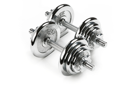 chromium plated: Metal dumbbells