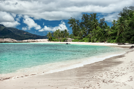 Seychelle island beach, untouched nature, vacation background outdoors photography of picturesque Seychelle islands