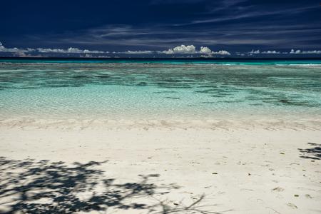 fondos azules: Colorido escena de verano de playa al aire libre fotografía de pintorescas islas Seychelle