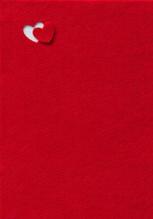 빨간색에 새겨진 마음을 느꼈다. 스톡 콘텐츠