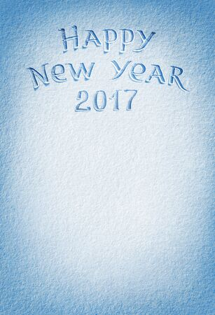 january 1: Happy New Year! Background of fresh snow texture in blue tone. High resolution product, top view