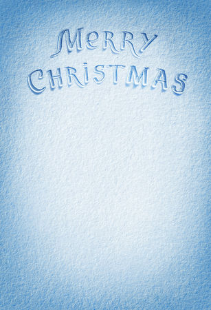 january 1: Merry Christmas! Background of fresh snow texture in blue tone. High resolution product, top view Stock Photo