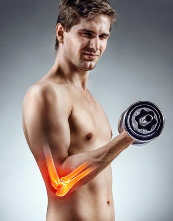 3D-Render Zeigt Männliche Figur Mit Deltoidmuskeln Zeigt ...