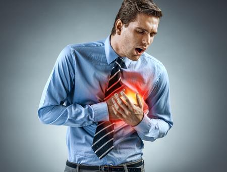 Gestionnaire de bureau ayant une crise cardiaque. Concept médical Banque d'images - 88170495