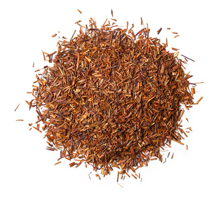 Rooibos tea on white background. Top view. Close up. High resolution 写真素材