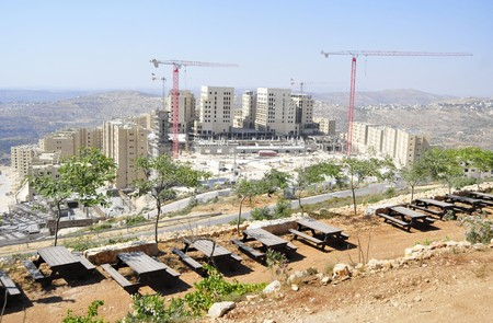 bank western: Rawabi, Palestinian Authority - June 27, 2014. A new Palestinian city of Rawabi built in the Western bank (Samaria) not far from Ramallah. Editorial