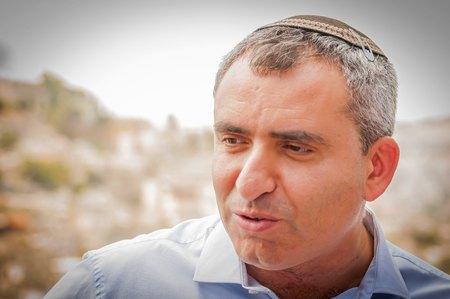 JERUSALEM, ISRAEL. June 20, 2017. Israeli politician Zeev (Zeev) Elkin, ecology minister and Jerusalem affairs minister, speaking to the Israeli Russian speaking journalists in the City of David.
