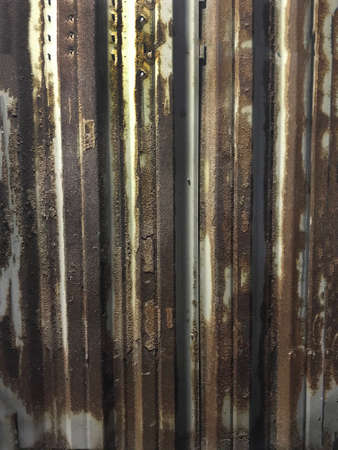 Rust, rusty metal sheets, rusty old walls in the factory 写真素材