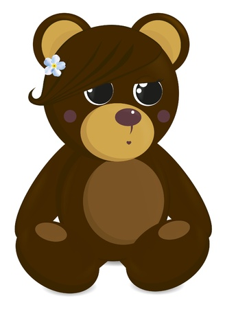 mamma: She-bear with fringe and flower