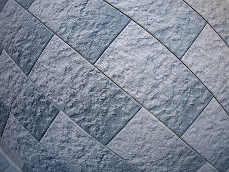 fisheye: Fragment of grey decorative wall with wide angle fisheye lens view