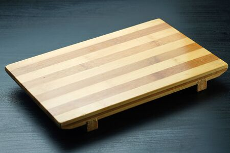 empty wooden stand for sushi and Japanese food rolls Reklamní fotografie