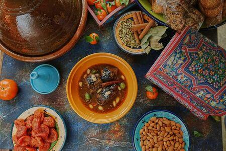 Eastern lamb stew, Arabic hot lamb soup