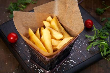 food rustic potatoes arugula cherry tomatoes portion