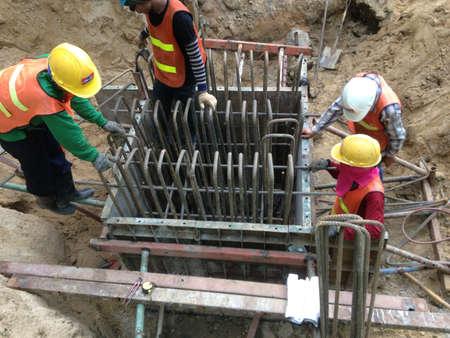 footing: Steel work footing