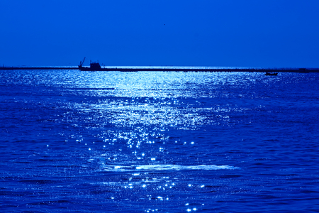 blue tone: sea view blue tone Stock Photo